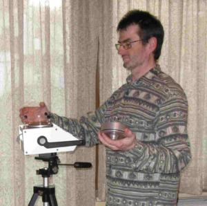 Bild steffen bei Schimmelanalyse