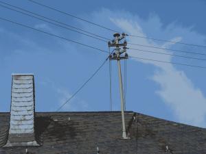 Dachständerleitung